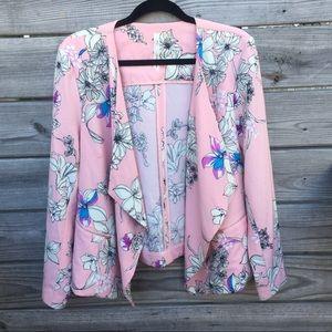 Pink Floral Blazer